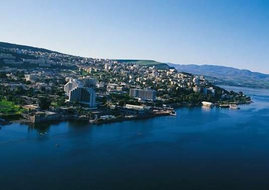 Tyberiada - widok z samolotu