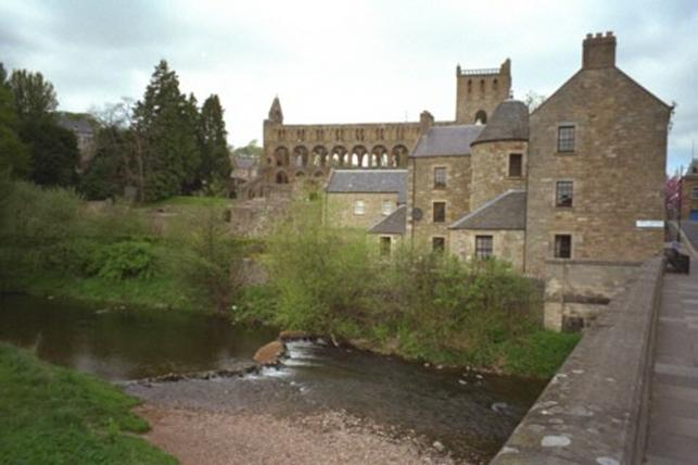 Schottland, Jedburgh, River Tweed