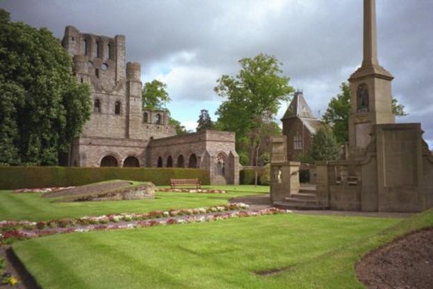 Schottland, Kelso Abbey, Klostergarten