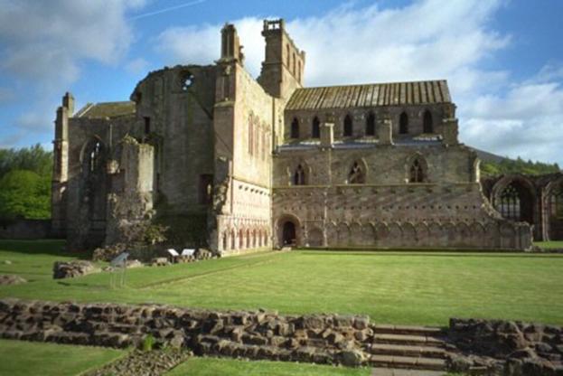 Schottland, Melrose Abbey, Nordseite